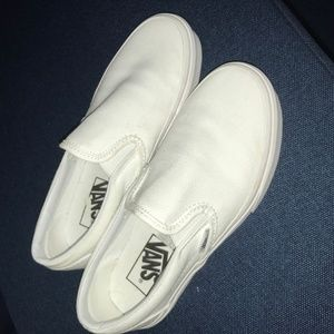Women's Vans Classic White Slip-on